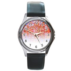 Effect Isolated Graphic Round Metal Watch
