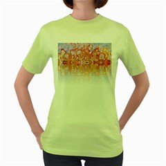 Effect Isolated Graphic Women s Green T Shirt