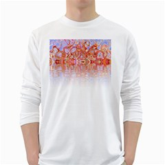 Effect Isolated Graphic White Long Sleeve T-Shirts