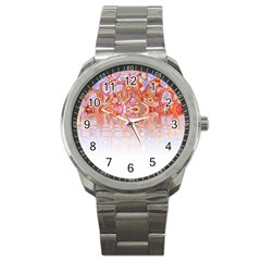 Effect Isolated Graphic Sport Metal Watch