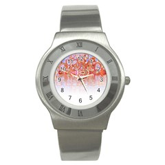 Effect Isolated Graphic Stainless Steel Watch