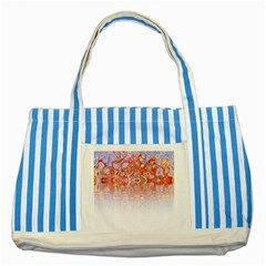 Effect Isolated Graphic Striped Blue Tote Bag