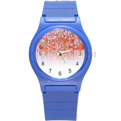 Effect Isolated Graphic Round Plastic Sport Watch (S)