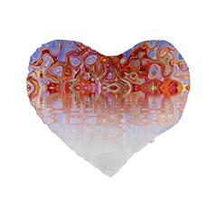 Effect Isolated Graphic Standard 16  Premium Heart Shape Cushions