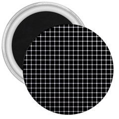 Black and white optical illusion dots and lines 3  Magnets