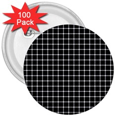 Black and white optical illusion dots and lines 3  Buttons (100 pack)
