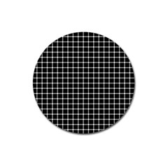 Black And White Optical Illusion Dots And Lines Magnet 3  (round)
