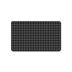 Black and white optical illusion dots and lines Magnet (Name Card)