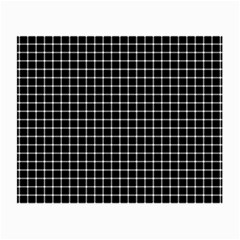 Black and white optical illusion dots and lines Small Glasses Cloth