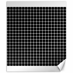 Black and white optical illusion dots and lines Canvas 20  x 24