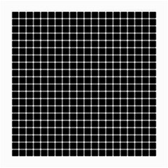 Black and white optical illusion dots and lines Medium Glasses Cloth