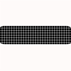 Black and white optical illusion dots and lines Large Bar Mats