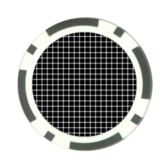 Black and white optical illusion dots and lines Poker Chip Card Guard