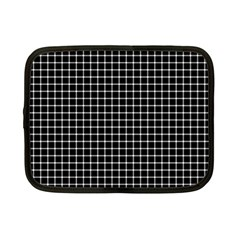 Black and white optical illusion dots and lines Netbook Case (Small)