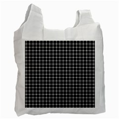 Black and white optical illusion dots and lines Recycle Bag (Two Side)