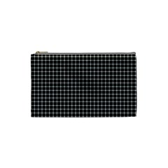 Black and white optical illusion dots and lines Cosmetic Bag (Small)