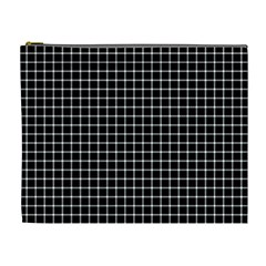 Black and white optical illusion dots and lines Cosmetic Bag (XL)