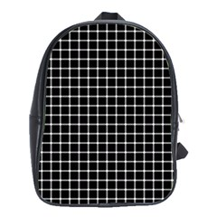 Black and white optical illusion dots and lines School Bags(Large)