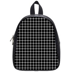 Black and white optical illusion dots and lines School Bags (Small)