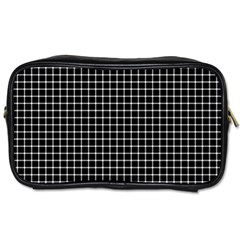 Black and white optical illusion dots and lines Toiletries Bags 2-Side