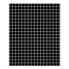 Black and white optical illusion dots and lines Shower Curtain 60  x 72  (Medium)