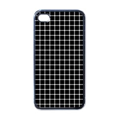 Black and white optical illusion dots and lines Apple iPhone 4 Case (Black)
