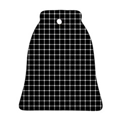 Black and white optical illusion dots and lines Ornament (Bell)