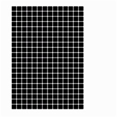 Black and white optical illusion dots and lines Large Garden Flag (Two Sides)