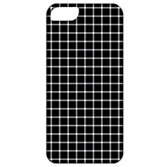 Black and white optical illusion dots and lines Apple iPhone 5 Classic Hardshell Case