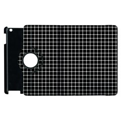 Black and white optical illusion dots and lines Apple iPad 3/4 Flip 360 Case