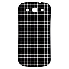 Black and white optical illusion dots and lines Samsung Galaxy S3 S III Classic Hardshell Back Case