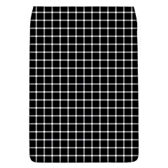 Black and white optical illusion dots and lines Flap Covers (L)