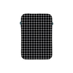 Black and white optical illusion dots and lines Apple iPad Mini Protective Soft Cases