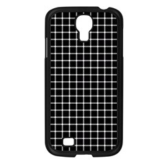 Black and white optical illusion dots and lines Samsung Galaxy S4 I9500/ I9505 Case (Black)