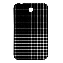 Black and white optical illusion dots and lines Samsung Galaxy Tab 3 (7 ) P3200 Hardshell Case