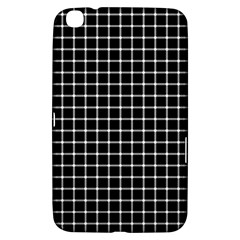 Black and white optical illusion dots and lines Samsung Galaxy Tab 3 (8 ) T3100 Hardshell Case