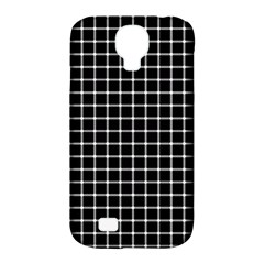 Black and white optical illusion dots and lines Samsung Galaxy S4 Classic Hardshell Case (PC+Silicone)