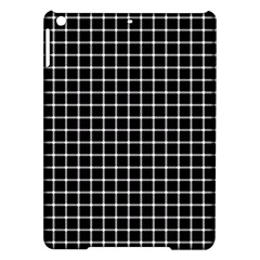 Black and white optical illusion dots and lines iPad Air Hardshell Cases