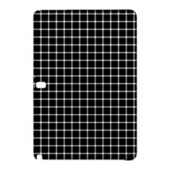 Black and white optical illusion dots and lines Samsung Galaxy Tab Pro 12.2 Hardshell Case