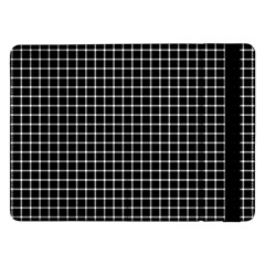 Black and white optical illusion dots and lines Samsung Galaxy Tab Pro 12.2  Flip Case