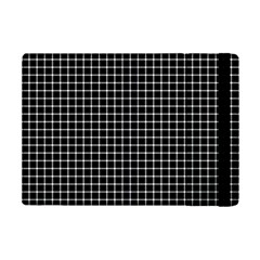 Black and white optical illusion dots and lines iPad Mini 2 Flip Cases