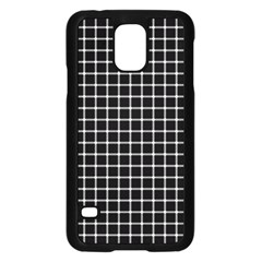 Black and white optical illusion dots and lines Samsung Galaxy S5 Case (Black)