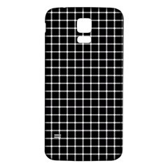 Black And White Optical Illusion Dots And Lines Samsung Galaxy S5 Back Case (white)