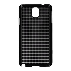 Black and white optical illusion dots and lines Samsung Galaxy Note 3 Neo Hardshell Case (Black)