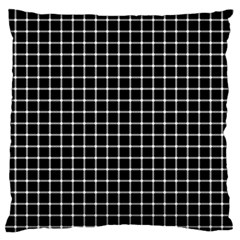 Black and white optical illusion dots and lines Large Flano Cushion Case (Two Sides)
