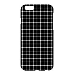 Black and white optical illusion dots and lines Apple iPhone 6 Plus/6S Plus Hardshell Case