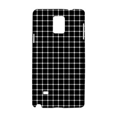 Black and white optical illusion dots and lines Samsung Galaxy Note 4 Hardshell Case