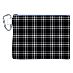 Black and white optical illusion dots and lines Canvas Cosmetic Bag (XXL)