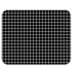 Black and white optical illusion dots and lines Double Sided Flano Blanket (Medium)