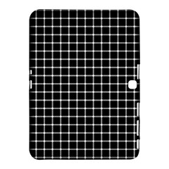 Black and white optical illusion dots and lines Samsung Galaxy Tab 4 (10.1 ) Hardshell Case